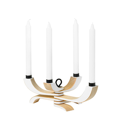 디자인하우스스톡홀름 캔들홀더 Desinghouse Stockholm Nordic Light 4-arms White