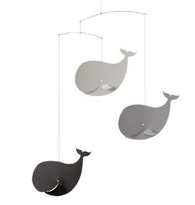 플렌스테드 모빌 행복한 고래 Flensted Mobiles Happy Whales Black+Grey