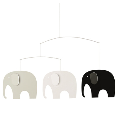 플렌스테드 모빌 코끼리 Flensted Mobiles Elephant Party Black/White