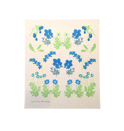 에밀리 에크 스웨덴 행주 Emelie EK SummerBurst Dishcloth Blue