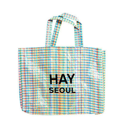 헤이 쇼퍼백 서울 Hay Multi Check Shopper M  HAY Bag SEOUL Logo