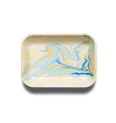 본 뉴마블 베이킹 디쉬 Bornn Enamelware New Marble Baking Dish Lemon Cream