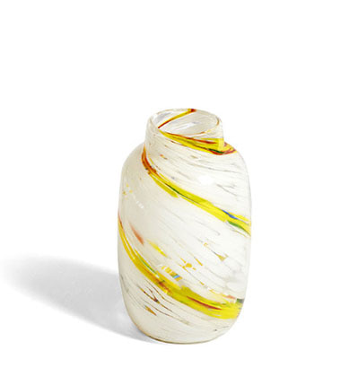 헤이 스플래시 화병 HAY Splash Vase Round M Lemon Swirl