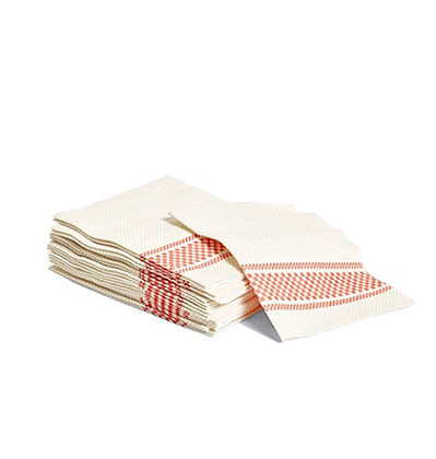 헤이 냅킨 HAY Biodegradable napkins Red set of 20