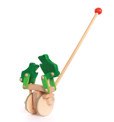 Bajo Push Toy Frog