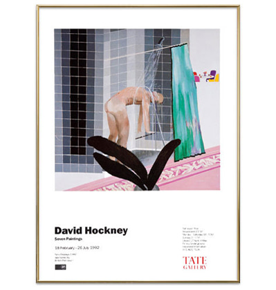 데이비드 호크니 그림액자 전시품 할인 Seven Paintings Exhibition Poster in 1992 - David Hockney - Used Stuff