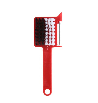 Perigot Vegetables Brush & peeler Red