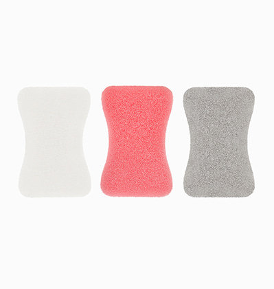 실리콘 수세미 Silicon Sponge 3p (pink+grey+white)