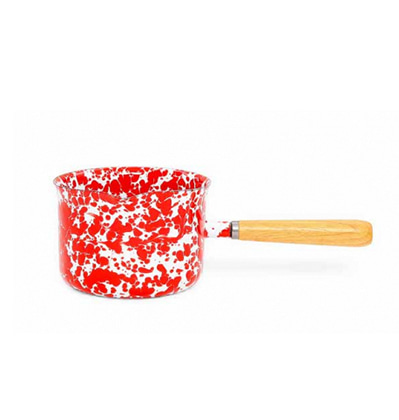 크로우캐년 밀크팬 (소스서버) 레드 CrowCanyonHome Splatter 22 oz Sauce Server Red Marble D130